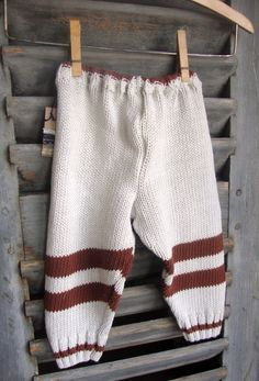 Baby pants made out of recycled sweaters - such a great idea!
