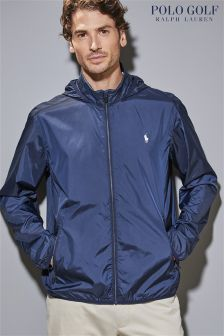 Layer yourself with men's jackets for the season. Hooded, bomber & padded, these will see you through transitional weather. Mens Raincoat, Padded Jacket, Hoods, Rain Jacket, Windbreaker, Polo Ralph Lauren, Golf, Navy, Jackets