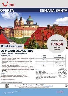 Semana Santa.Lo Mejor de Austria. 7 noches. Salida 28Marzo. Precio final desde 1.195€ en 4* ultimo minuto - http://zocotours.com/semana-santa-lo-mejor-de-austria-7-noches-salida-28marzo-precio-final-desde-1-195e-en-4-ultimo-minuto/