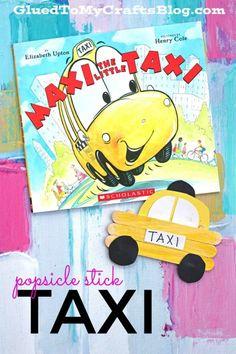 Popsicle Stick Taxi - Kid Craft Idea
