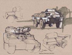 Sketches by Mathias Hintermann, via Behance.