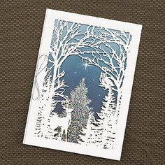 Woodland Christmas Holiday Card Custom Greeting Cards Donation Will Be Made To Feeding