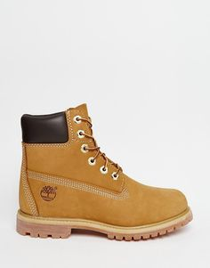 Timberland - 6 Inch Premium Lace Up Beige Flat Boots- $190