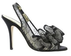 Freya Rose Black lace shoes, Tahiti Boudior