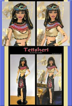 """Tetisheri"" - Ooak Egyptian Barbie"