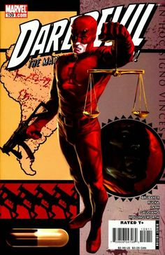 Daredevil is a fictional character, a superhero that appears in comic books published by Marvel Comics. The character was created by writer-editor Stan Lee and artist Bill Everett, with an unspecified amount of input from Jack Kirby, and first appeared in Daredevil #1. Living in the Hell's Kitchen neighborhood of New York City, Matt Murdock is blinded by a radioactive substance that falls from an oncoming vehicle.