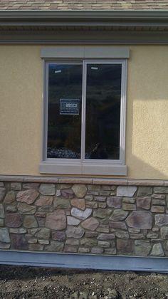 Molding and keystones over garage doors exterior house - Exterior decorative foam molding ...