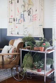 7 Other Ways to Use a Bar Cart | Apartment Therapy