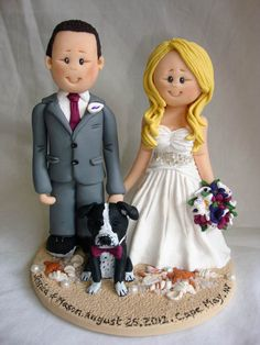 Personalised bride and groom wedding cake by ALittleRelic on Etsy, $150.00