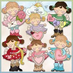 Sassy Cassie Sweet Valentine 1 - NE Cheryl Seslar Clip Art : Digi Web Studio, Clip Art, Printable Crafts & Digital Scrapbooking!