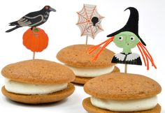 Whoopie pies are so much fun to make. Tender cookies filled with cream cheese frosting - perfect for Thanksgiving, Halloween, or any fall celebration.