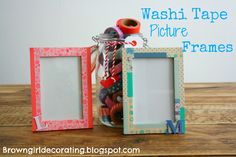 Washi picture frame