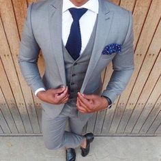 Men's Suit Slim Fit 3-Piece Suit Grey-Mens-Suit-Clothing-XXS-Grey-LeStyleParfait.Com