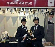 Catch these ladies serving Zandvliet Wines at the Wine Show Jo'burg