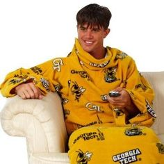 Georgia Tech snuggie - perfect for staying warm in your dorm.