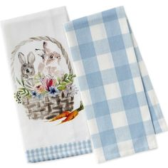 This charming set of festive and functional dish towels boast seasonal designs perfect for holiday gatherings. Featuring sweet bunnies in a floral basket on one and a bold gingham pattern on the other. Includes two towels 100% cotton Machine wash 28''L x 17''W (approximate) It may sound at the beginning like the Turkish towel is similar to alot of towels, but there are several unique features which render it stand out. #turkishtowel #peshtemaltowel #peshtemal Wholesale Home Decor, Spring Home Decor, Pool Towels, Turkish Towels, Cotton Towels, Handmade Pottery, Dish Towels, Towel Set, Easter Baskets
