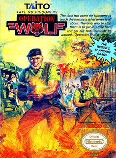 80s arcade game port for the NES - Operation Wolf, 1989 #nintendo #taito