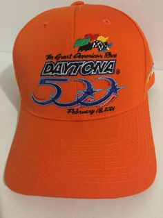 Black Sunday Daytona 500 NASCAR Snapback Cap Orange Adjustable February 18 32067fa90