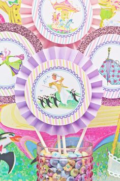 Mary Poppins Vintage Party  4inch PRINTABLE by CutiePuttiPaperie, $5.50