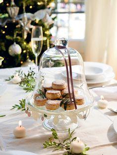 Mesas listas para celebrar · ElMueble.com · Navidad Christmas Mood, Christmas 2015, Christmas Ideas, Table Setting Inspiration, Christmas Cookies, Table Settings, Cakes, Table Decorations, Sweet