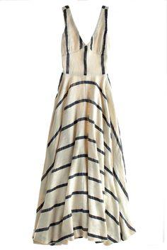 striped maxi dress $650