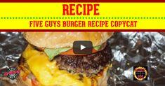 five_guys_burger_recipe_FB Fried Burgers Recipe, Guys Burgers Recipe, 5 Guys Burgers, Deep Fried Burger, Turkey Burgers, Homemade Hamburger Patties, Homemade Hamburgers, Hamburger Recipes, Beef Recipes