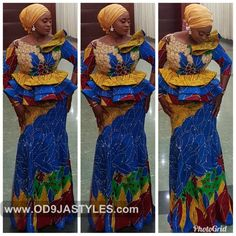 Classy picture collection of Beautiful Ankara Skirt And Blouse Styles These are the most beautiful ankara skirt and blouse trending at the moment. If you must rock anything ankara skirt and blouse styles and design. African Wedding Attire, African Attire, African Wear, African Dress, African Lace, African Women, African Style, African Fashion Designers, Latest African Fashion Dresses