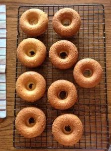 Oven Baked Vanilla Cake Donuts