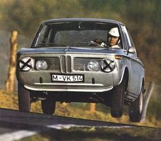 Hubert Hahne in a BMW 2000ti – the first driver to lap the Nordschleife in a touringcar in less than 10 minutes