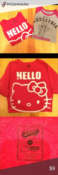 Girls Old Navy Collectible Graphic Shirts Girls Old Navy Collectible Graphic Shirts, Hello Kitty & My Little Pony, ON Size S, which is a 6/7, 3/4 sleeves Old Navy Shirts & Tops