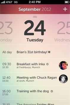calendar details by Tobias Negele Mobile Application Design, Mobile Ui Design, Interface Design, User Interface, Iphone Interface, Ios, Web Design, Calendar Ui, Ui Patterns