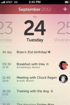simple calendar idea