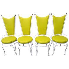 Gorgeous Set of 4 Salterini Style Patio Chairs Mid-century modern