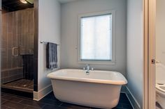 Black tiles and white walls in the bathroom   | Usual House