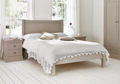 Camden Pebble Wooden Bed Frame - Painted Wood - Wooden Beds - Beds