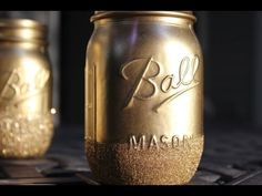 DIY Glitter Mason Jars - YouTube