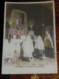ANTIGUA POSTAL DE LAS PALMAS, LA VIRGEN DE LA CUEVITA