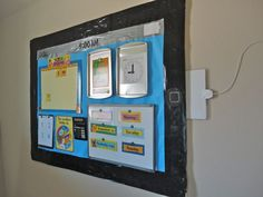"""iPad Bulletin Board Idea - great blog post with all the details about how to create an """"iTeach"""" bulletin board"""
