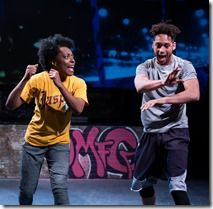 "Sydney Charles and Julian Parker star in Jackalope Theatre's world premiere ""Prowess"" by Ike Holter, directed by Marti Lyons. (photo credit: Joel Maisonet)"