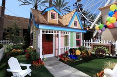 """Disney """"UP"""" playhouse. Think my mom would love this! Disney Up House, Disney Movie Up, Disney Dream, Mickey Mouse House, Disney Garden, Outdoor Fun, Outdoor Decor, Build A Playhouse, Disney Rooms"""