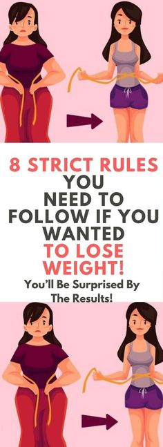 8 STRICT RULES YOU NEED TO FOLLOW IF YOU WANTED TO LOSE WEIGHT.! Read this....!