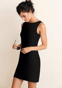 Jednofarebné priliehavé šaty bez rukávov #ModinoSK #BASIC #fashion #LBD