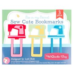 Sew Cute Bookmarks Lori Holt of Bee in my Bonnet Scrappy Project Planner Accessory | Fat Quarter Shop