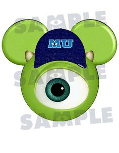 Monsters University Mike character inspired personalized Mickey printable digital file DIY