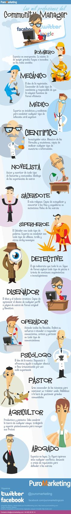 Las mil profesiones del community manager #diadelcommunitymanager