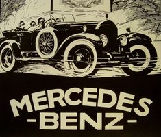 Mercedes Benz Vintage Car Original Print