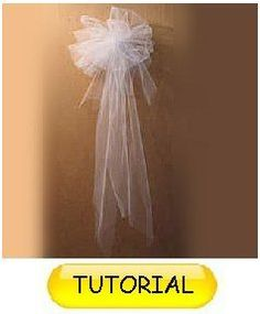 White tulle pew bow church aisle decor white wedding decorations learn how to make pew bows flowered pew decorations and more buy wholesale flowers and discounted florist supplies junglespirit Choice Image