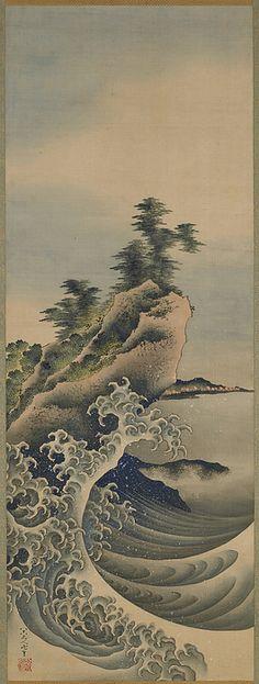 Katsushika Hokusai Breaking Waves
