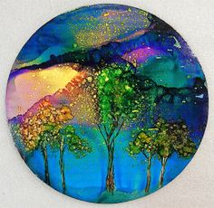 Original Alcohol Ink Painting Two Sides to by bitsandpiecestoo