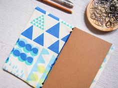 Fabric Travelers Notebook Fauxdori line patterns & by Catisfy